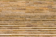 Large and long sandstone staircase Royalty Free Stock Image