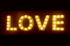 Large LOVE display sign Royalty Free Stock Photos