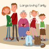 Large loving family. Stock Photos