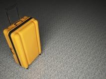 Large luggage on stone floor background. Royalty Free Stock Photos