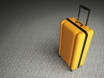 Large luggage on stone floor background. Royalty Free Stock Images