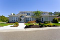 Large Luxurious Home. Exterior shot of a large luxurious home Royalty Free Stock Images