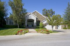 Large Luxurious Home. Exterior shot of a large luxurious home Stock Photo