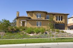 Large Luxurious Home. Exterior shot of a large luxurious home Stock Image