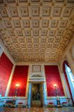 Large luxurious room. Large room with elaborate ceiling in the Christiansborg Palace Royalty Free Stock Image