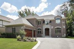 Large luxury brick home Stock Image