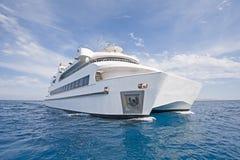 Large Luxury Catamaran At Sea Royalty Free Stock Photos