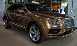 Large luxury crossover SUV Bentley Bentayga, 2016. Royalty Free Stock Images