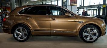 Large luxury crossover SUV Bentley Bentayga, 2016. Stock Image