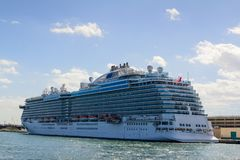 Large cruise ship in Ft Lauderdale Stock Photo