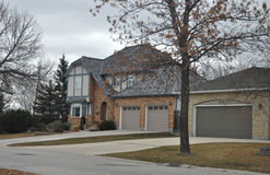 Large luxury home. View of the private homes and cottages in Winnipeg before the Halloween Photo was taken in November 2013 royalty free stock image