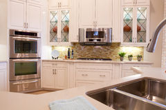 Large Luxury Kitchen. In a new house Stock Photos