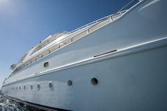 Large luxury motor yacht Stock Image