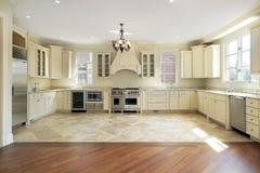 Large luxury new construction kitchen Stock Photos