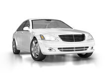 Large luxury white car Royalty Free Stock Images