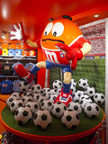Large M&M's Footbal Player Stock Images