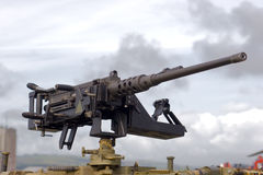 Large Machine Gun Royalty Free Stock Images