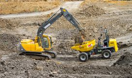 Large machinery on a building site Stock Photo