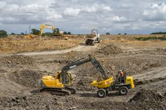 Large machinery on a building site Stock Image