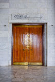 The large magestic doors of masjid,  islamic architecture, islam. Large doors Stock Photo