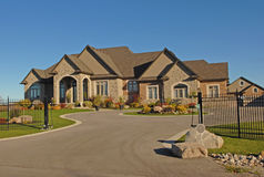 Large mansion with driveway. Stock Image