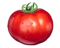 Large Marglobe tomato, top view royalty free stock images