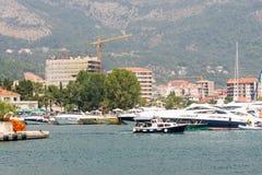 The large Marina in Montenegro, Budva Stock Image