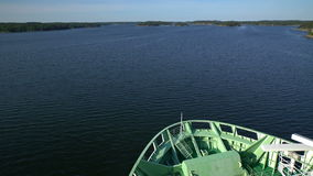 Large marine ferry sailing in the Baltic sea. Time Lapse. stock footage