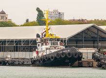 Large Marine tugboat in the port of Burgas, Bulgaria Royalty Free Stock Photos