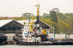 Large Marine tugboat in the port of Burgas in Bulgaria Royalty Free Stock Photo