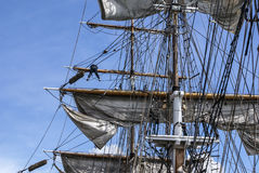 Large mast of an old sailing ship,Irland. Royalty Free Stock Photography