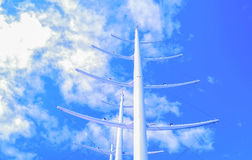 Large mast sailboat Royalty Free Stock Image