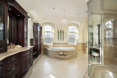 Large master bath Royalty Free Stock Images