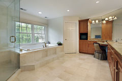 Large master bath Royalty Free Stock Photos
