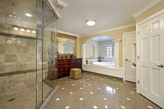 Large master bath Stock Image