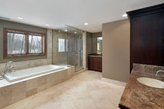 Large master bath Stock Photo