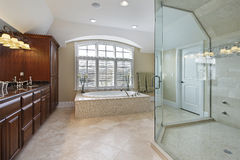 Large master bathroom Royalty Free Stock Photos