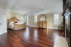 Large master bedroom stock images