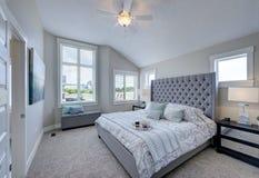 Free Large Master Bedroom Featuring Plenty Of Light. Stock Photo - 178243860