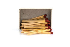Large matches in a box Royalty Free Stock Photo