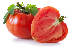Large mature ox heart tomatoes. Royalty Free Stock Photo