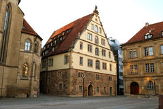 Large medieval house in the center of Stuttgart Royalty Free Stock Photos
