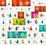 Large mega collection of Christmas cards and Stock Photo