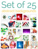 Large mega set of abstract backgrounds, sale Royalty Free Stock Photography