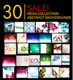 Large mega set of abstract backgrounds, sale Stock Images