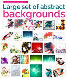Large mega set of abstract backgrounds, sale Royalty Free Stock Photo