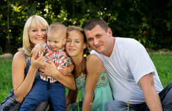 Large merry family Royalty Free Stock Photography
