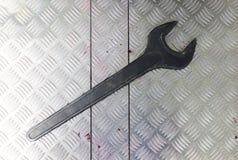 Large metal key screw Royalty Free Stock Photos