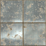 Large metal plates rusty Stock Photos