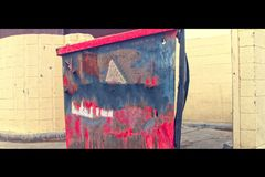 Colorful Trash dumpster as Art Royalty Free Stock Photo